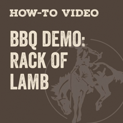 How To Barrel Smoke a Rack of Lamb