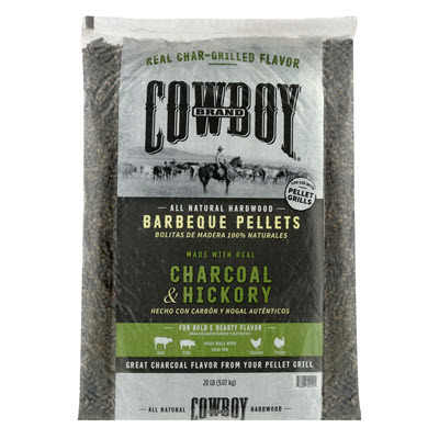 Cowboy® Charcoal & Hickory Barbeque Pellets